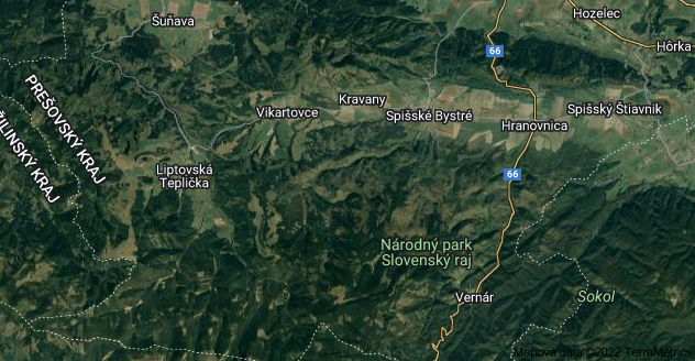 Mapa oblasti 059 18 Kravany